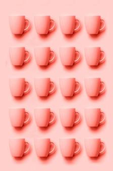 Patroon van roze bekers