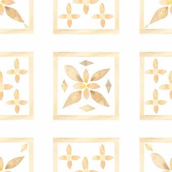 Patroon van waterverf het hand getrokken abstracte naadloze tegels.