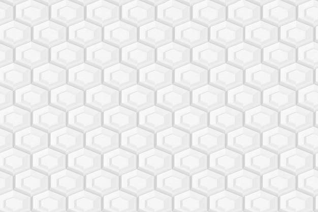 Patroon van zeshoeken en cirkels op basis van zeshoekig raster of honingraat