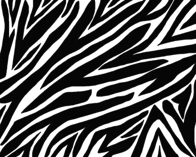 Patroon zebrahuid tekenen