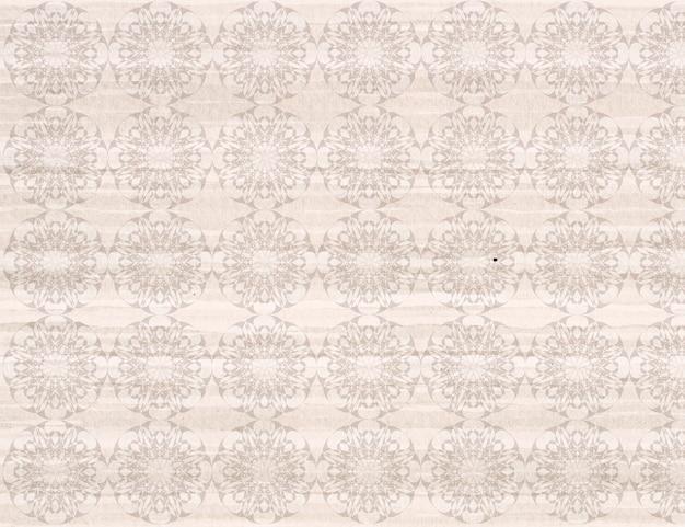 Patterned beige behang