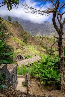 Paul valley landschap in santo antao eiland, kaapverdië, afrika