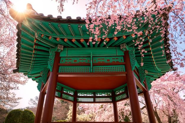 Paviljoen op de nationale begraafplaats van seoul