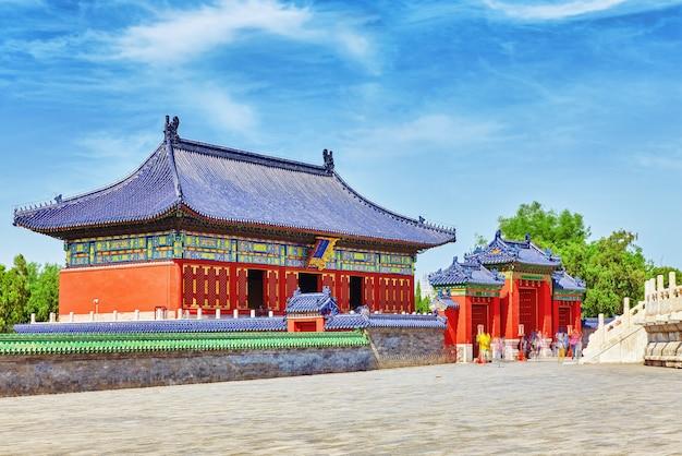 Paviljoens in het complex van de tempel van de hemel in peking