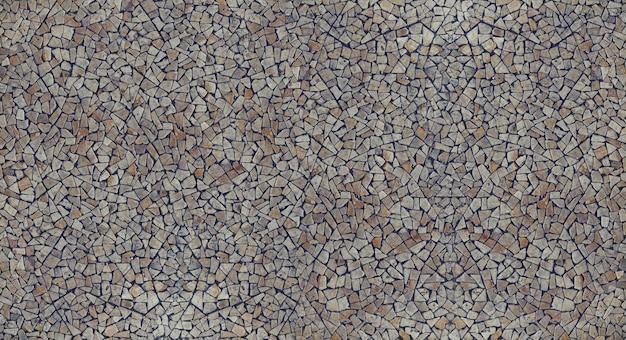 Pebble grind stenen mozaïek getextureerde muur achtergrond