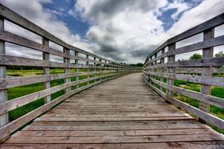 Pei land brug hdr voorraad