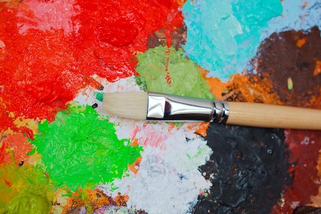 Penseel en kleuren