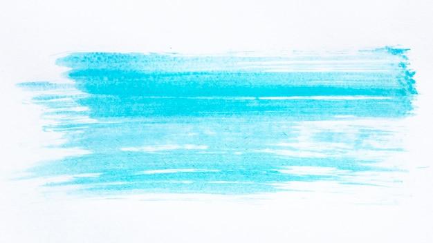 Penseelstreek blauwe verf
