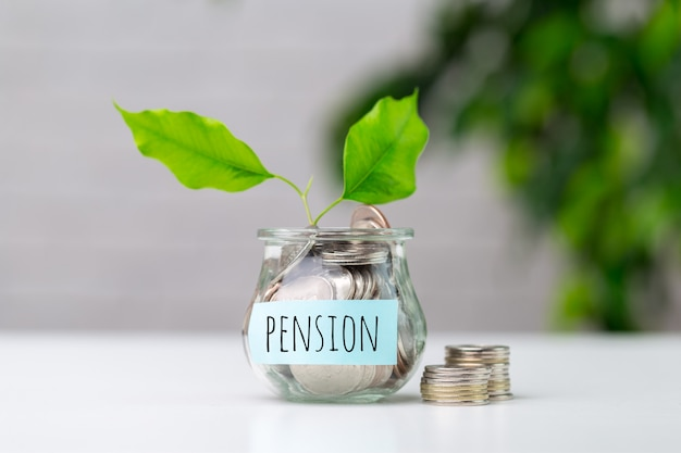 Pensioenfonds en pensionering bedrijfsconceptensamenstelling