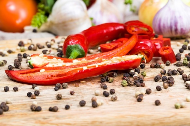 Peper en gedroogde peper