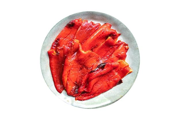 Pepergrill gepelde antipasto gebakken groente peper gegrilde antipasti verse portie klaar om te eten