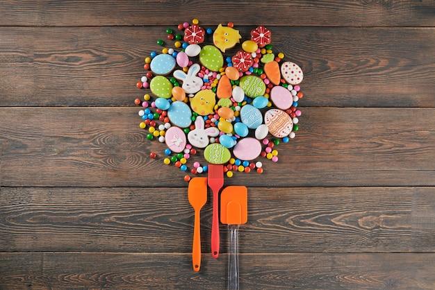 Peperkoek en culinaire gebruiksvoorwerpen