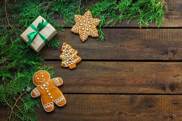 Peperkoek. geschenken en vakantie, kerstmis gelukkig nieuwjaar