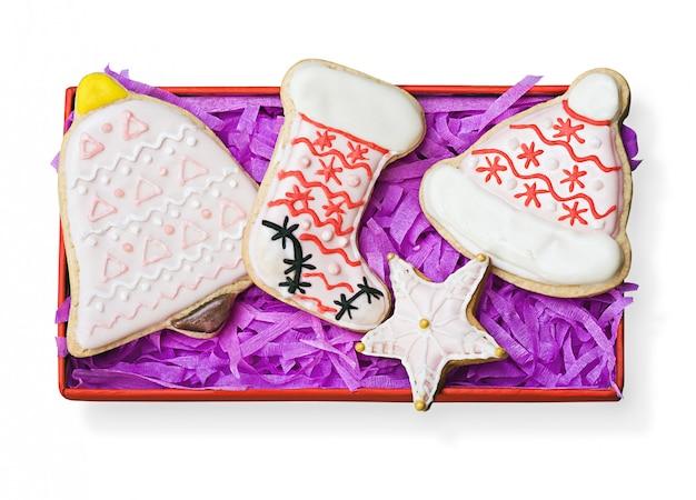 Peperkoek kerstkoekjes in geschenkverpakking