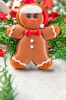 Peperkoek koekje kerstmis zoet dessert cadeau nieuwjaar zelfgemaakte gebakjes koekje voedsel achtergrond