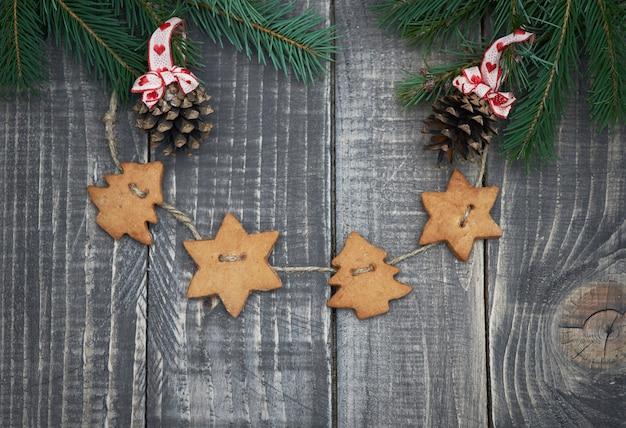Peperkoekdecoratie op het hout