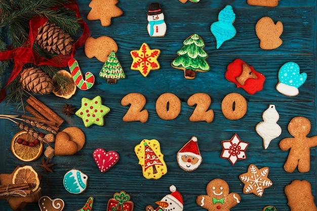 Peperkoeken voor nieuwe 2020-jaren