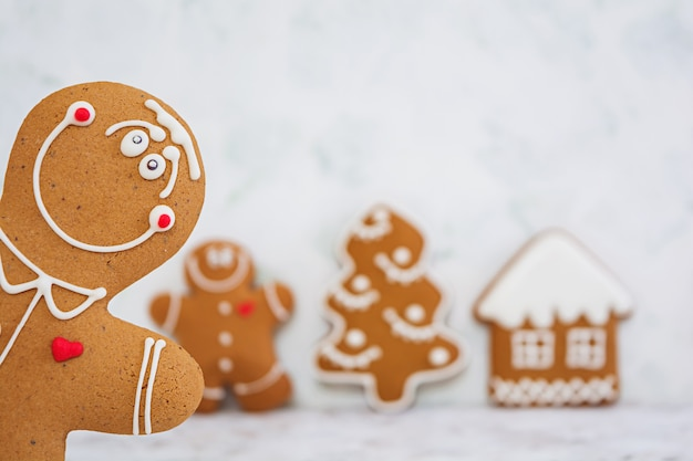Peperkoekkoekjes van kerstmis