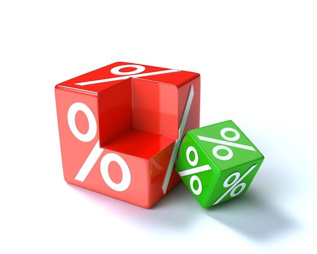 Percentage kubussen op wit