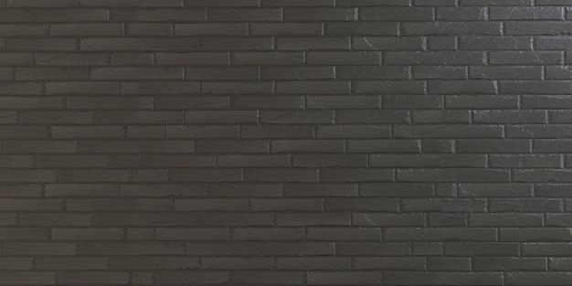 Perfecte bakstenen muurachtergrond gedetailleerd realistisch zwart