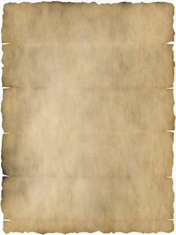 Perkament oud vouw briefpapier gebogen knik