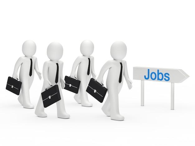 Personages op zoek naar een baan