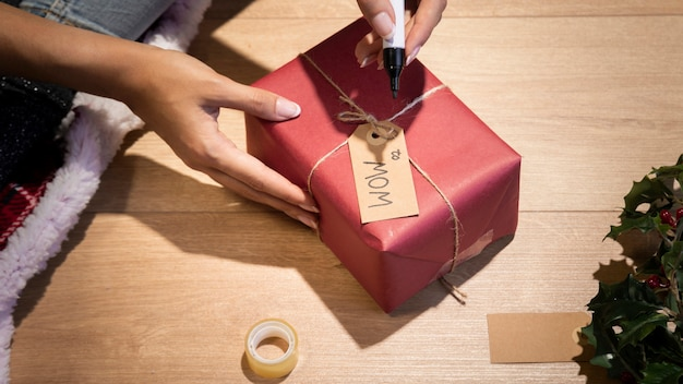 Personalisatie van geschenken voor kerstnacht