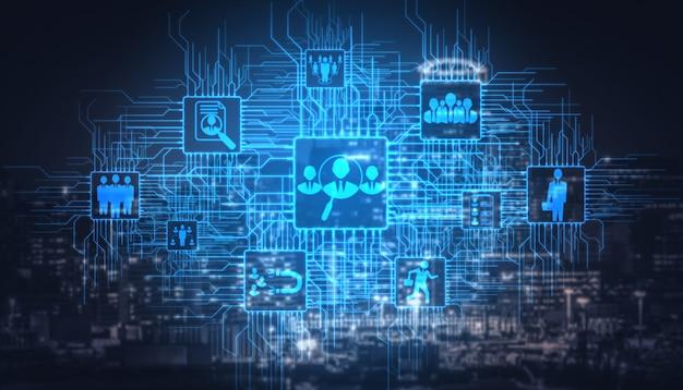 Personeel en mensenvoorzien van een netwerkconcept