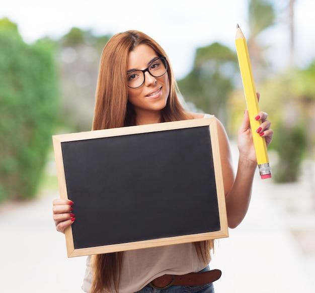 Persoon college denken zoekt vrouw