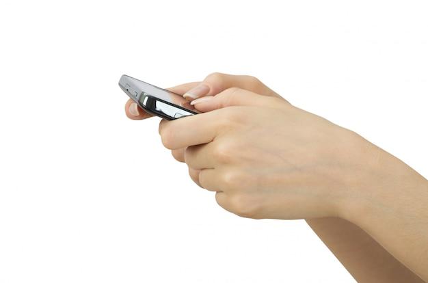 Persoon die smartphone gebruikt