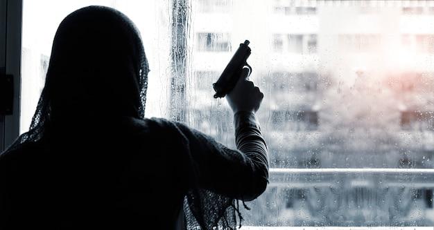 Persoon met een pistool