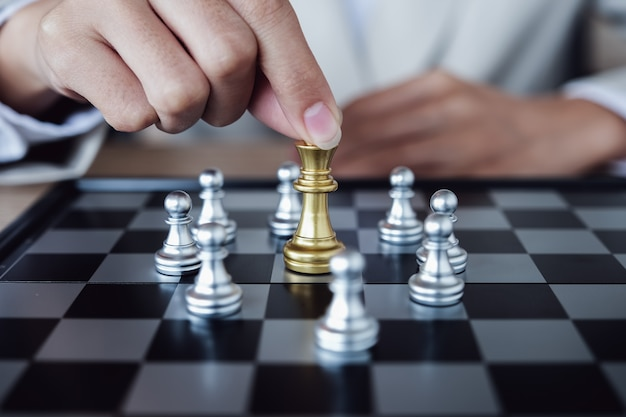 Persoon schaken