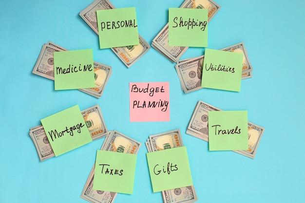 Persoonlijk budget planningsconcept.
