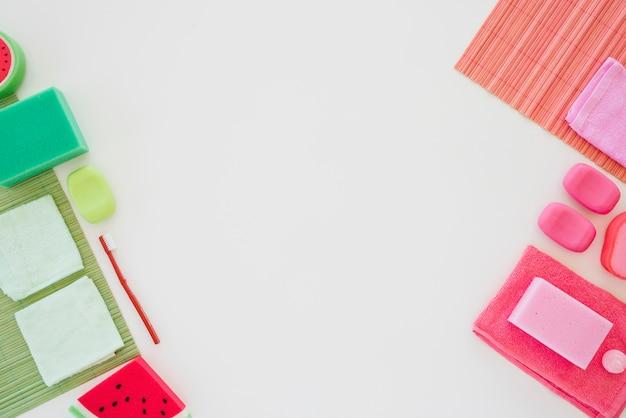 Persoonlijke hygiënische producten in felle kleuren