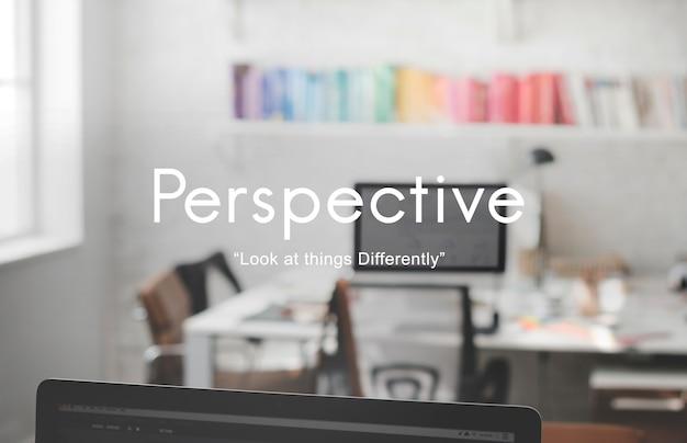 Perspectief oogpunt concept