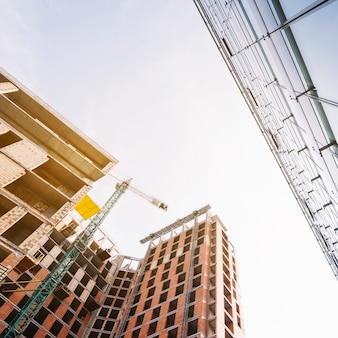 Perspectief van nieuwe gebouwen