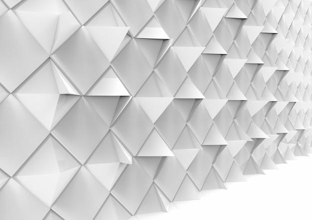 Perspectief weergave van moderne geometrische veelhoek patroon tegel muur achtergrond.