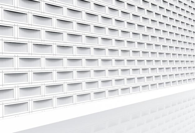 Perspectiefmening van moderne witte de muur van de baksteenbaksteen en het lopen manier