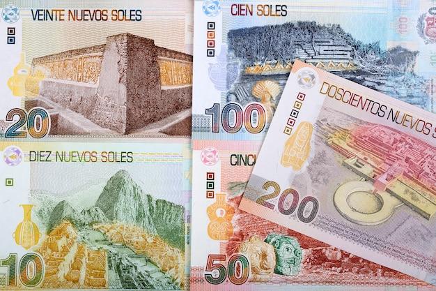 Peruaanse sol een zakelijke achtergrond
