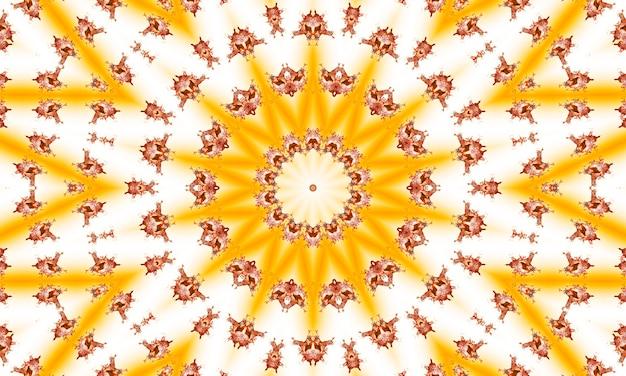 Perzik en beige abstracte zonsopgang uitbarsting van stralen. perspectief met concentratielijnen. groovy, psychedelische zomerachtergrond.