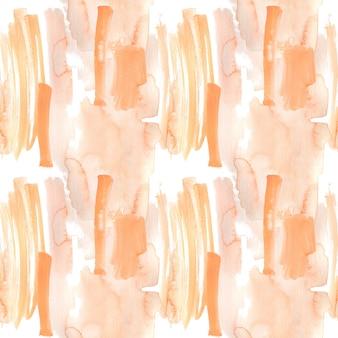 Perzik en oranje penseelstreken geschilderd in aquarel als achtergrond