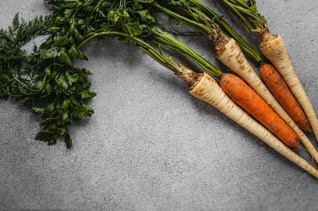 Peterselie wortels en wortelen