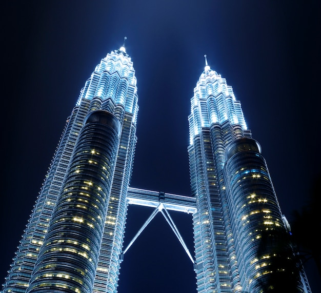 Petronas towers metropolitan city landmark concept