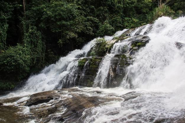 Pha dok siao waterfall chiangmai province thailand