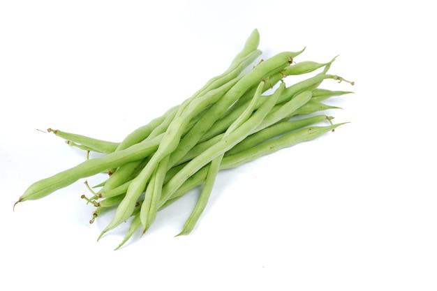 Phaseolus vulgaris of gewone boon op witte achtergrond.