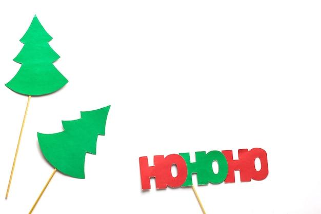 Photo booth kleurrijke rekwisieten voor kerstfeest