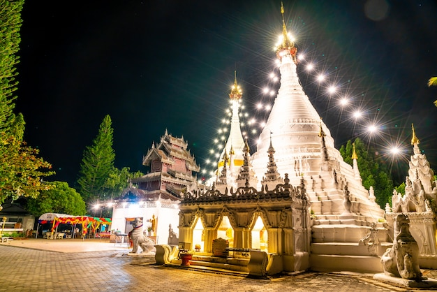 Phra that doi kong mu-tempel in mae hong son