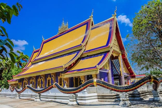 Phra that phanom gesimuleerd, wat thammapitak, huai mek district, provincie kalasin, thailand