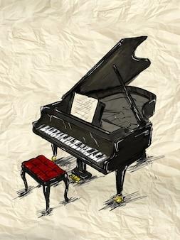 Piano schilderij afbeelding