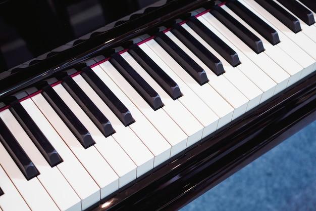 Piano toetsenbord achtergrond muziekinstrument